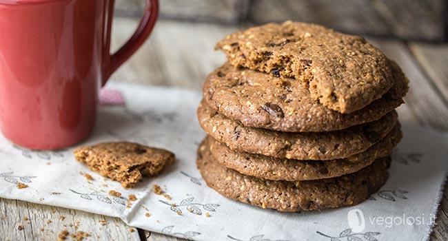 cookies farina riso cioccolato nocciole