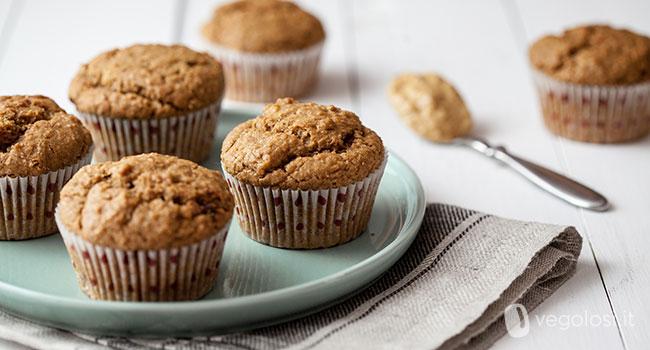 muffin vegani burro di arachidi