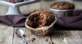 Muffin vegan al cioccolato, caffè e peperoncino