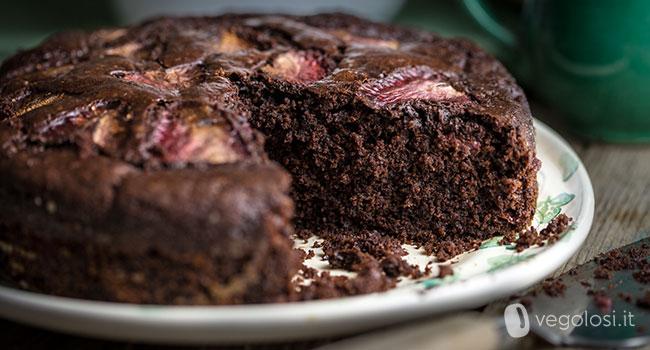 Torta fragole e cioccolato vegan