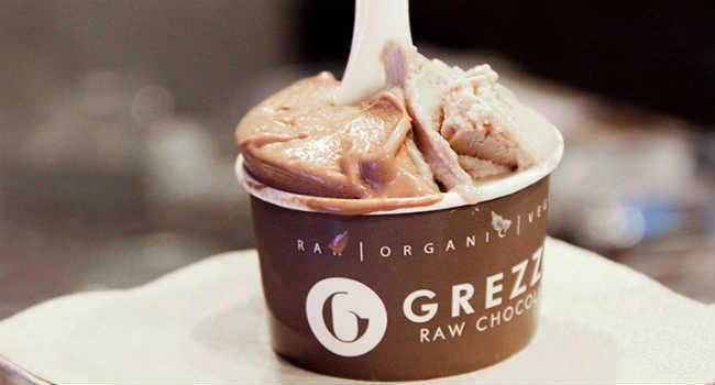 gelato grezzo raw chocolate