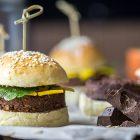 burger dolci di cioccolato e mango