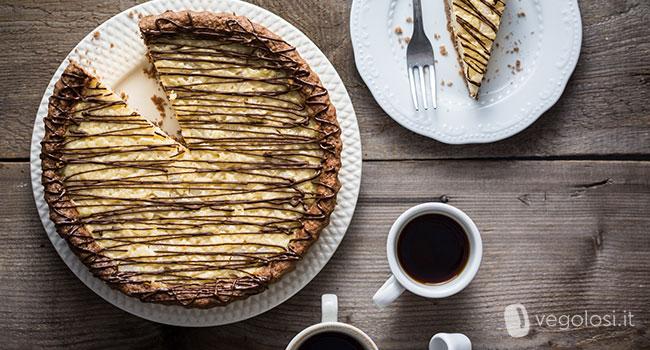 Crostata vegana al cacao e riso