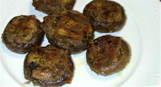 funghi champignon ripieni vegan