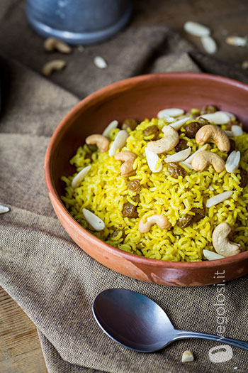 riso basmati spezie uvetta