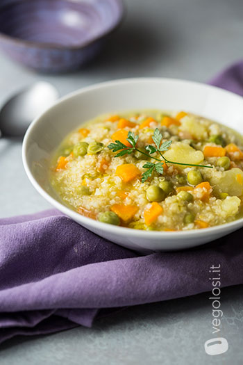 Minestrone di bulgur e quinoa
