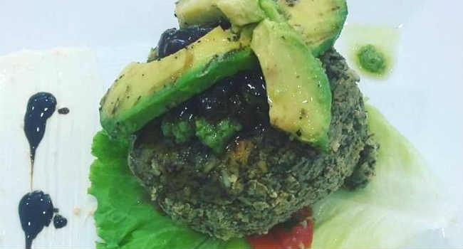 burger di ceci e alga nori