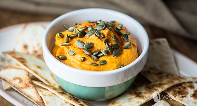 Hummus di patate dolci