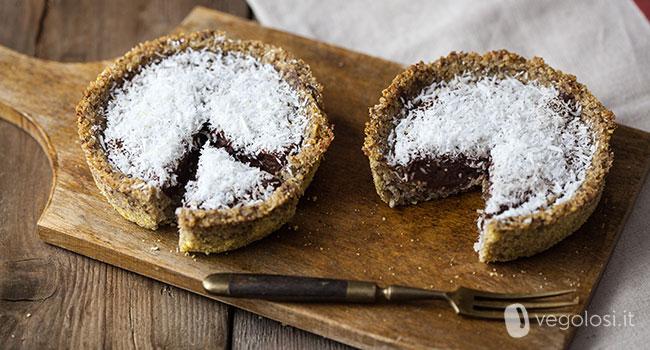 tortine vegane al cocco e cioccolato