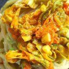 Spaghetti alla crema di avocado e fiori di zucchina