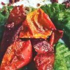 mezzelune verdi con melanzane e pomodori secchi