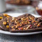 Medaglioni e barrette di cioccolato aromatizzati
