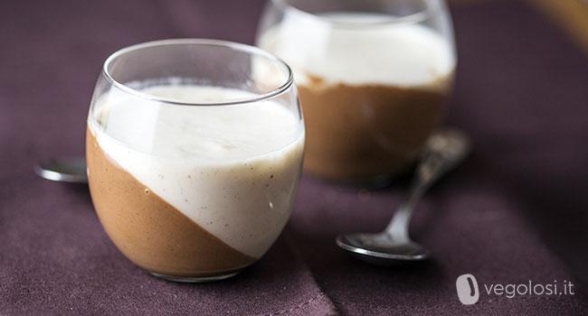 Panna cotta vegana alla vaniglia e cioccolato