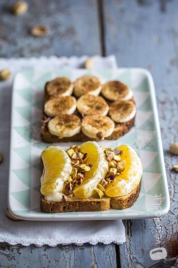 Toast dolci per colazione