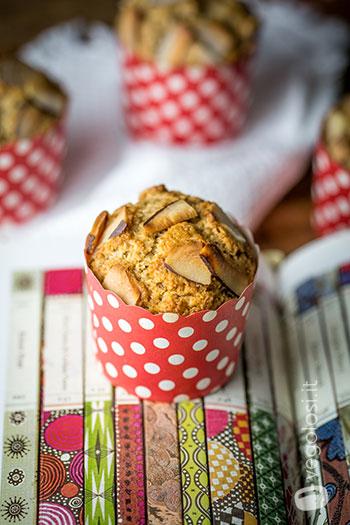 Muffin all'arancia rossa e cocco vegani