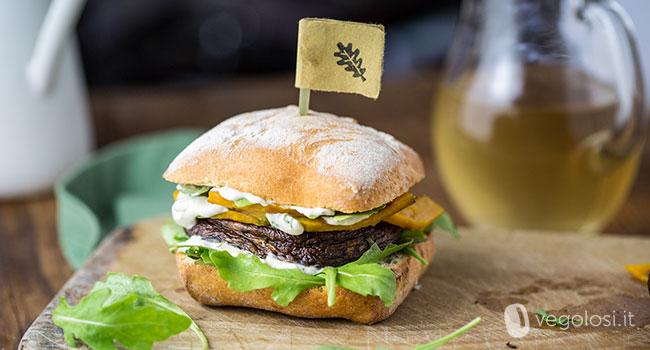 portobello burger pomodori secchi zucca crema cipolle