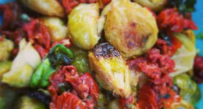 insalata calda di cavolini di Bruxelles