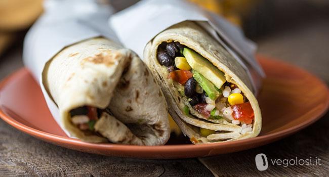 Burrito vegan fagioli neri