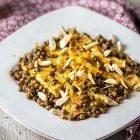 tempeh lenticchie e arancia