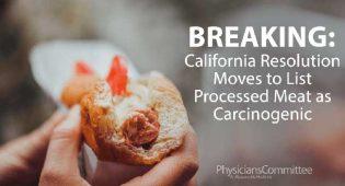 California risoluzione carne processata