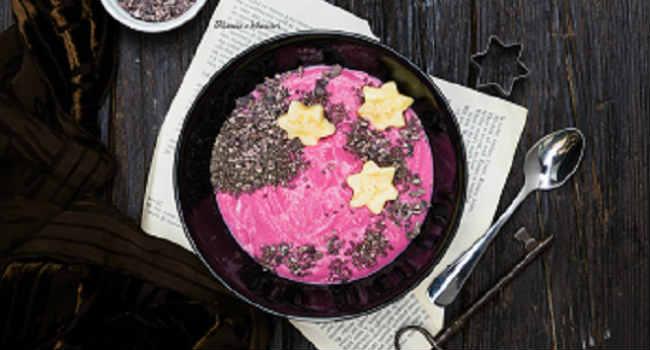 porridge di mais alla rapa rossa