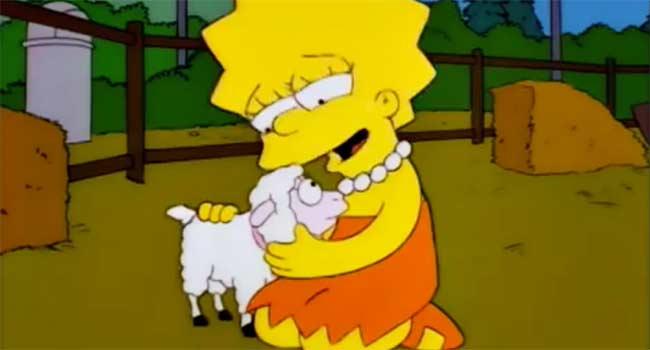 Lisa Simpson vegetariana