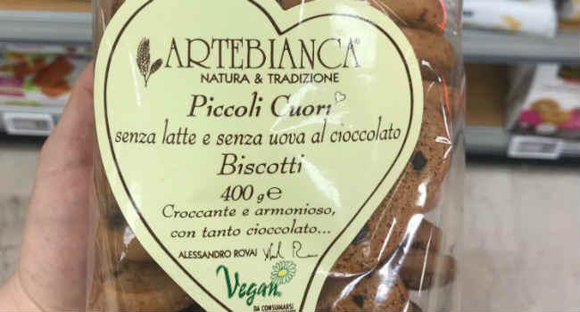 Artebianca biscotti vegan gocce di cioccolato