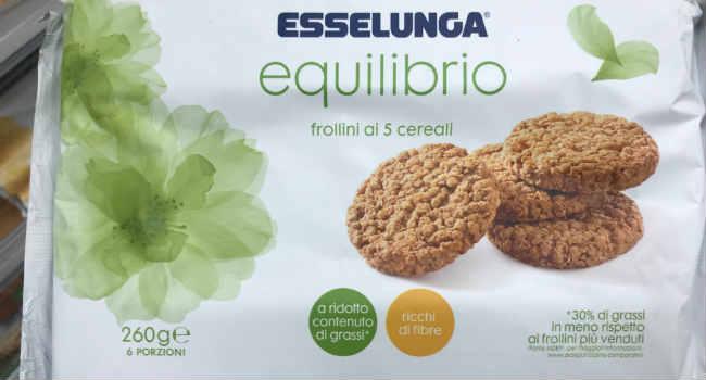 Biscotti 5 cereali Esselunga equilibrio
