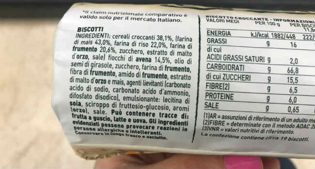 Gran Cereale croccante ingredienti