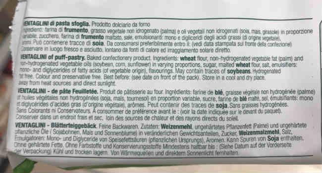 Ingredienti Ventagli pasta sfoglia vegan bianco forno