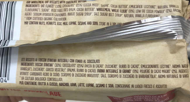 Ingredienti biscotti cioccolato Lambertz