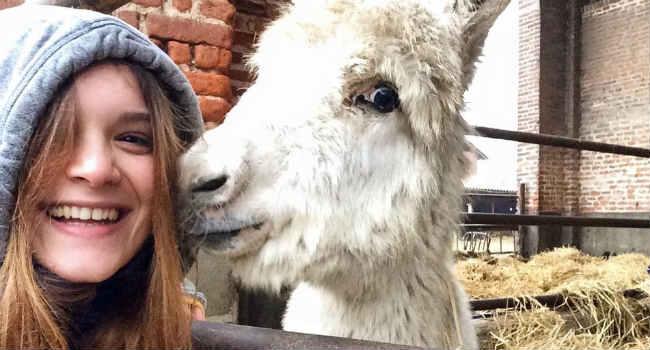 studentessa veterinaria vegana