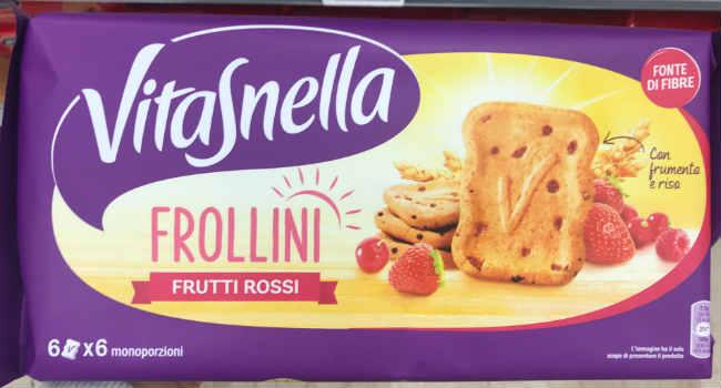 Vitasnella biscotti frutti rossi vegan