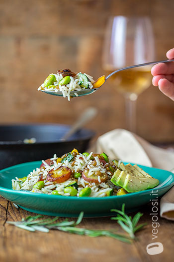 Insalata di riso in verde
