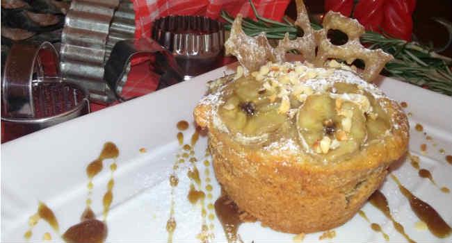 Muffin vegani alla banana e caramello