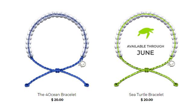 braccialetti plastica 4Ocean