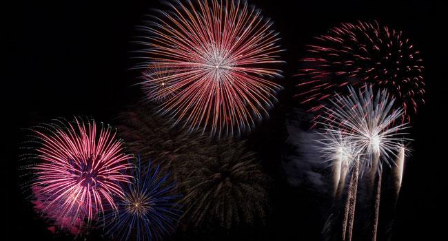 fuochi d'artificio silenziosi