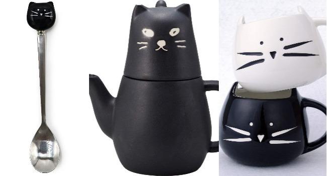 set da tè gatto