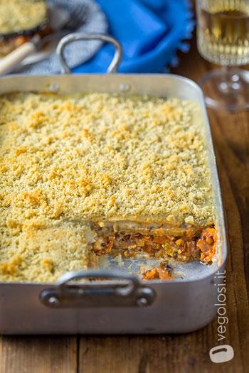 Moussaka vegan alle lenticchie