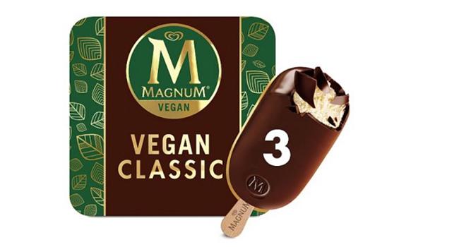 di proteine dei piselli e cioccolato la nuova versione vegana di uno  dei gelati industriali più amati al mondo (secondo la rivista Forbes) il  Magnum.