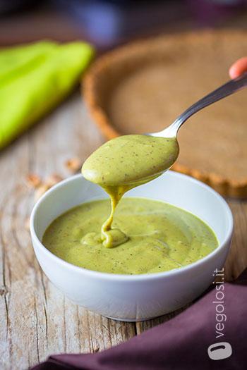 Crema pasticcera al pistacchio vegana
