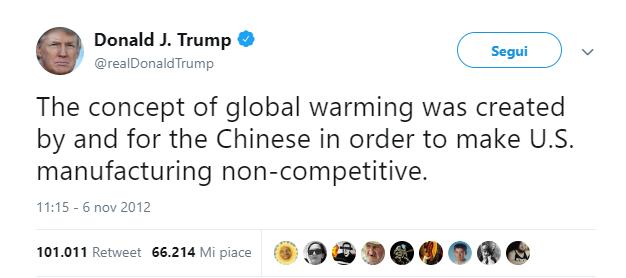 Trump cambiamenti climatici