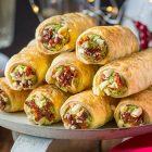 Cannoncini salati vegan con crema ai broccoli e pomodori secchi