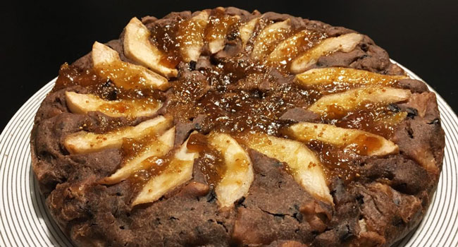 torta vegana pere e cioccolato