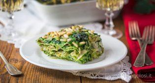 Lasagne di pane carasau agli spinaci e carciofi