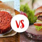 Carne vegana e carne di manzo inquinamento