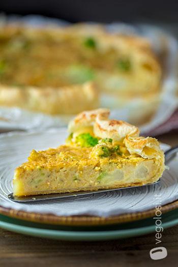 Torta salata ai ceci e broccolo romanesco