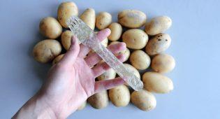 Plastica addio: dalla Svezia arrivano posate e buste fatte con le patate