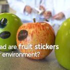 Etichette biodegradabili frutta