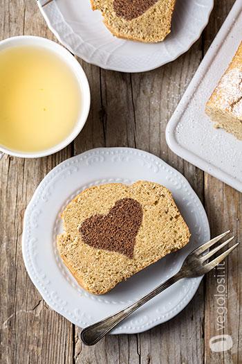 Plumcake vegano San Valentino